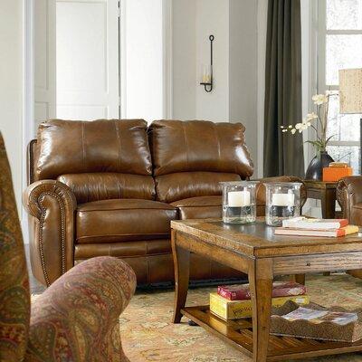 Rockford Leather Reclining Loveseat Type: Standard Recline