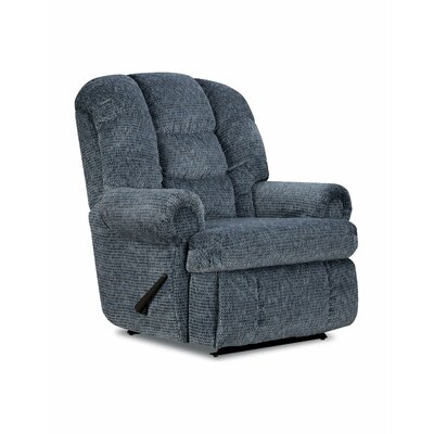 Stallion Comfort King� Chaise Wallsaver Recliner Color: Blue