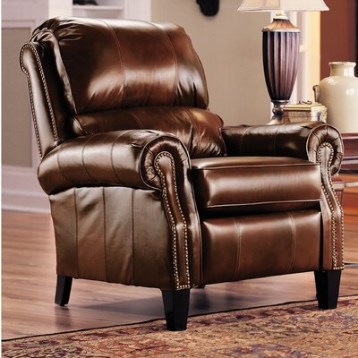 Hogan Recliner Color: Chestnut / Bonanza Smokey