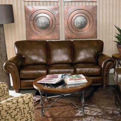 Benson Sofa Color: Light Brown