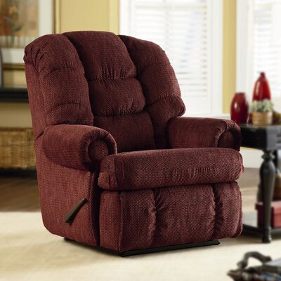 Stallion Comfort King� Chaise Wallsaver Recliner Color: Burgundy