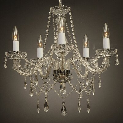 Holton 5-Light Silver Crystal Chandelier