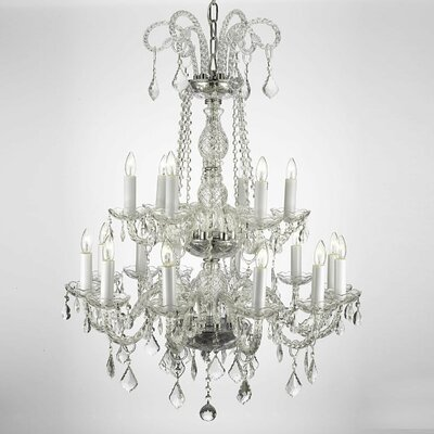 Lankford 18-Light Crystal Chandelier
