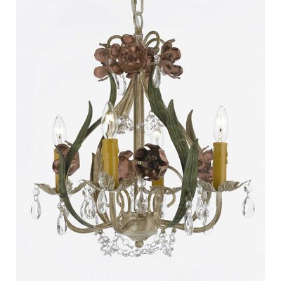 4-Light Crystal Chandelier