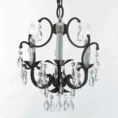 Jackson Heights 3-Light Crystal Chandelier