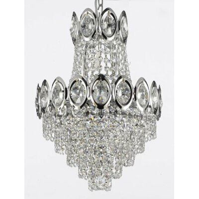 Charvi 4-Light Empire Chandelier Finish: Chrome