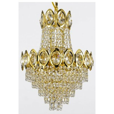 French 4-Light Empire Chandelier Finish: Gold