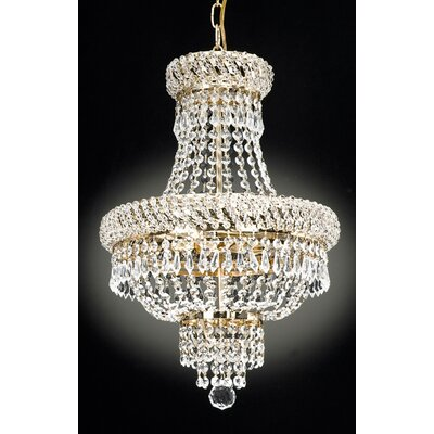 French 3-Light Empire Chandelier
