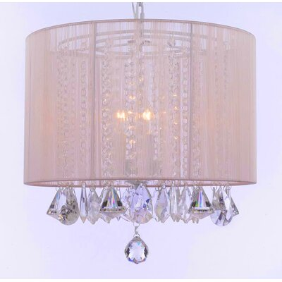 Hursey 3-Light Drum Chandelier