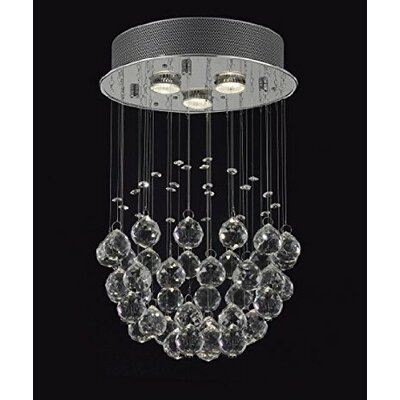 Drewes 3-Light Crystal Chandelier