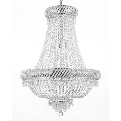 Charvi 9-Light Glass Empire Chandelier