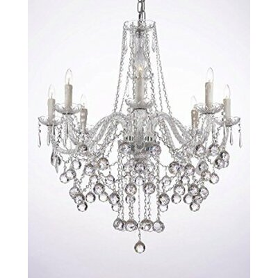 Versailles 8-Light Crystal Chandelier