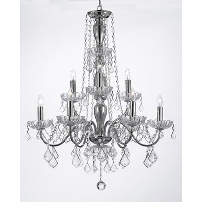 Lanz 9-Light Crystal Chandelier