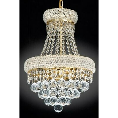 Lanza 3-Light Empire Chandelier Finish: Gold
