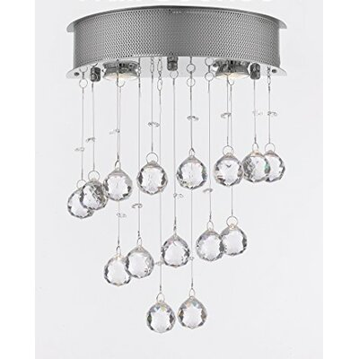 Bergin 2-Light Crystal Chandelier