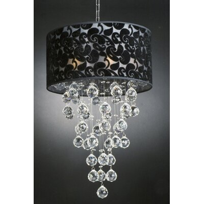 Huseby 6-Light Drum Chandelier
