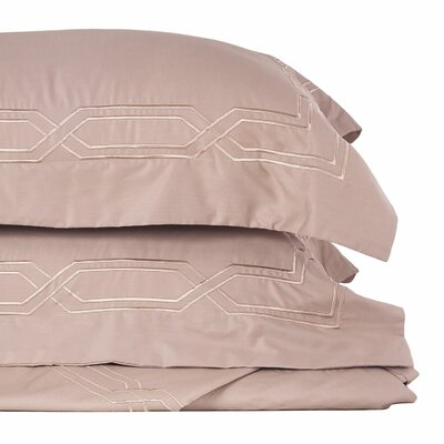 Metropolitan Stitch 3 Piece Duvet Cover Set Size: King, Color: Taupe