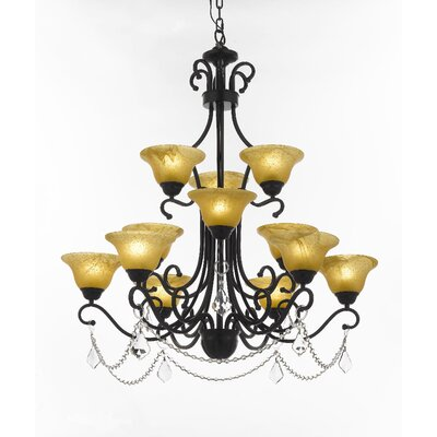 Stephens 12-Light Shaded Chandelier