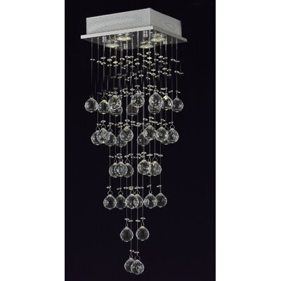 Berkman 4-Light Crystal Chandelier