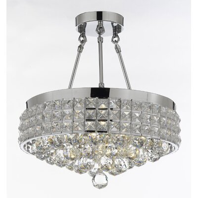 Laplant 4-Light Semi Flush Mount