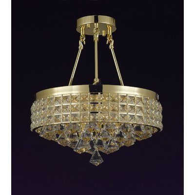 French Empire 4-Light Semi Flush Mount