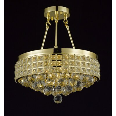 Charvi 4-Light Crystal Chandelier