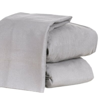 Steinway 100% Cotton Sheet Set Size: Full, Color: Gray