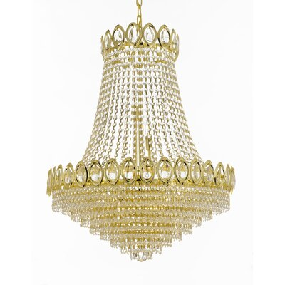French 9-Light Empire Chandelier Finish: Gold