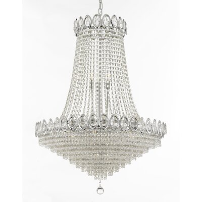 French 9-Light Empire Chandelier Finish: Silver