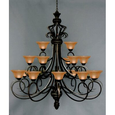 21-Light Shaded Chandelier