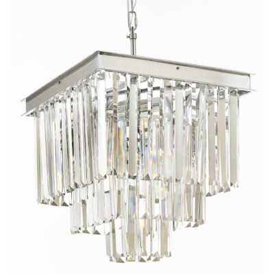 Odeon 4-Light Crystal Chandelier