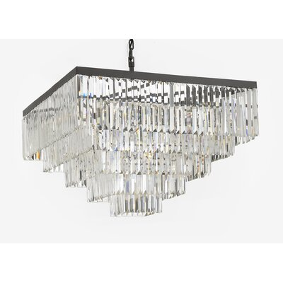 Larrison 18-Light Crystal Chandelier Finish: Gray/Clear
