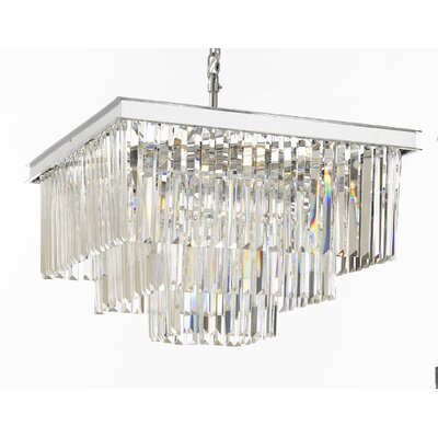 Odeon 9-Light Crystal Chandelier Finish: Chrome/Silver