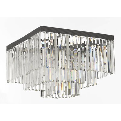 Odeon 9-Light Flush Mount Finish: Gray/Clear
