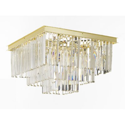 Odeon 9-Light Flush Mount Finish: Gold