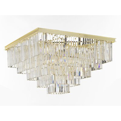 Odeon 18-Light Flush Mount Finish: Gold