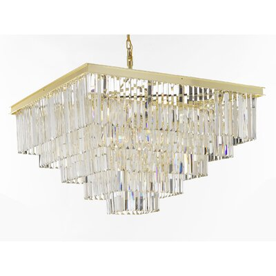 Odeon 18-Light Crystal Chandelier Finish: Gold