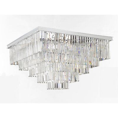 Odeon 18-Light Flush Mount Finish: Chrome/Silver