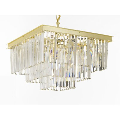 Larrison 9-Light Crystal Chandelier Finish: Gold