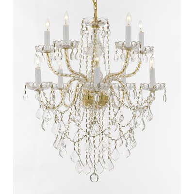 Lares 10-Light Crystal Chandelier