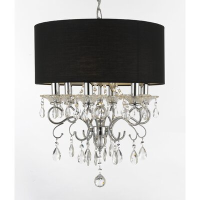Hutcheson 6-Light Drum Chandelier