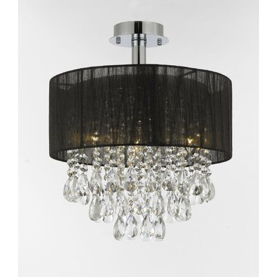 Hutchison 4-Light Semi Flush Mount