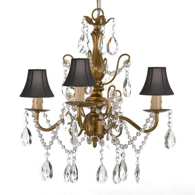 Hutson 4-Light Shaded Chandelier Shade Color: Black