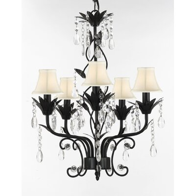 Hutter 5-Light Shaded Chandelier Shade Color: White