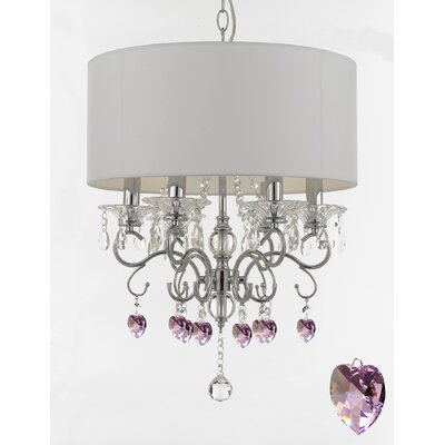 Hutzler 6-Light Drum Chandelier