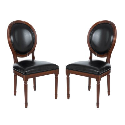 Schofield Vintage French Round Upholstered Side Chair
