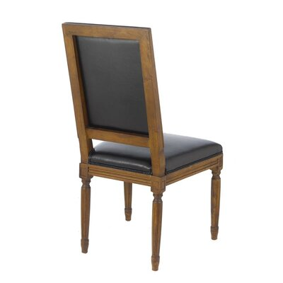 Janice Vintage French Square Upholstered Dining Chair