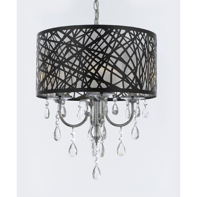 Belfield Crystal 4-Light Drum Chandelier