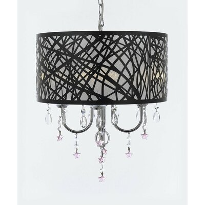 Irvin Star Crystal 4-Light Drum Chandelier