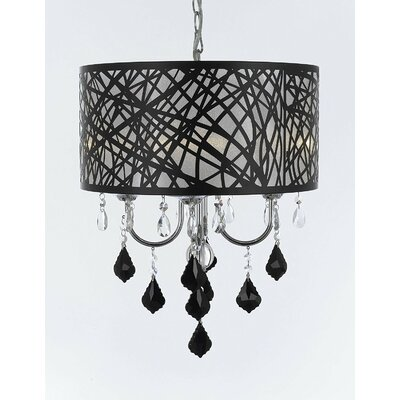 Chisley Crystal 4-Light Drum Chandelier